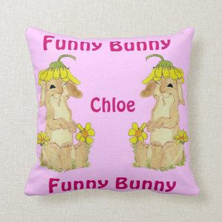 `Funny Bunny' Throw Pillow