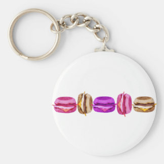 Funny_Burger Basic Round Button Keychain