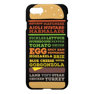 Funny Burger Design iPhone 7 Case