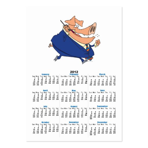 funny business boor pig cartoon business card