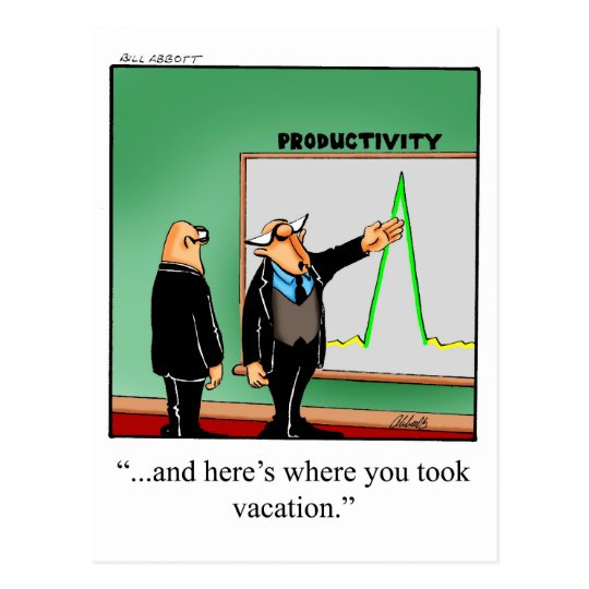Funny Business Humour Postcard
