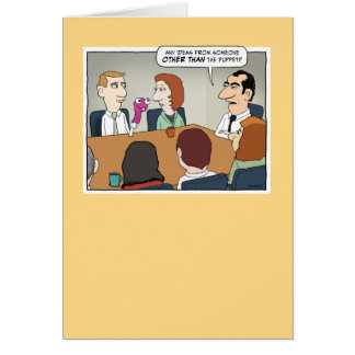 Funny Business Meeting birthday card