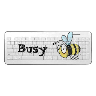 Funny Busy Bee Wireless Keyboard