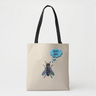 Funny Buzz Off Fly Tote Bag