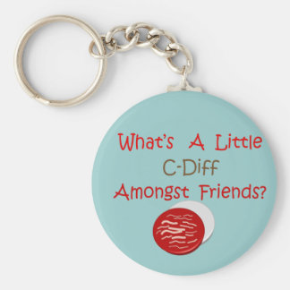 Funny C-Diff Nurse T-Shirts & Gifts Basic Round Button Key Ring
