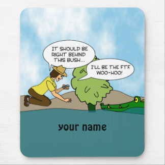 Funny Cache Geocaching Personalized Mouse Mat Mouse Pad