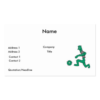 funny cactus playing soccer pack of standard business cards