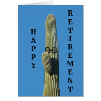 Funny Cactus Retirement Wishes Card