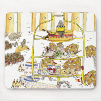 Funny Cake Wars History Quirky Afternoon Tea Art Mouse Mat