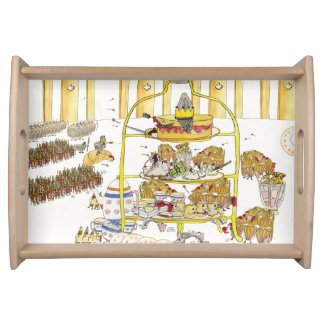 Funny Cake Wars History Quirky Afternoon Tea Art Serving Tray