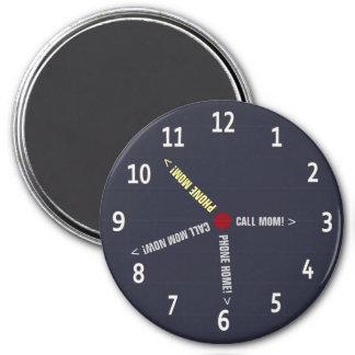 Funny Call Mom Memo Imaginary Clock 7.5 Cm Round Magnet