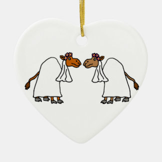 Funny Camel Bride and Bride Christmas Ornament