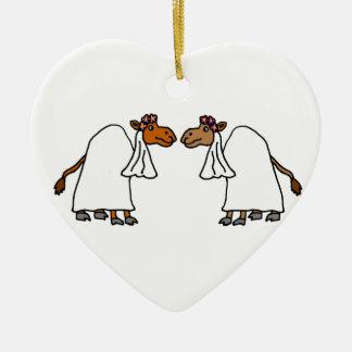 Funny Camel Bride and Bride Christmas Ornament