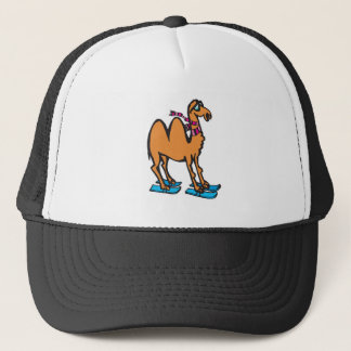 funny camel on skis trucker hat