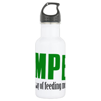 Funny camping designs 532 ml water bottle