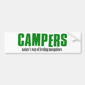 Funny camping designs bumper sticker