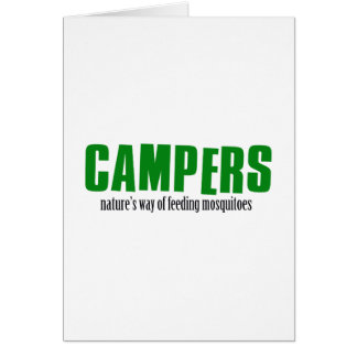 Funny camping designs greeting card