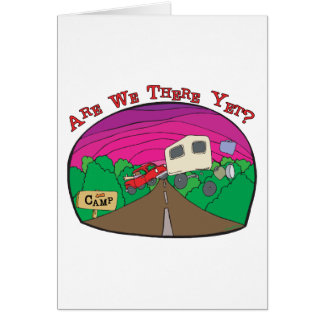 Funny Camping Greeting Card