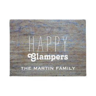 Funny Camping |  Happy Glampers Campers Name Doormat