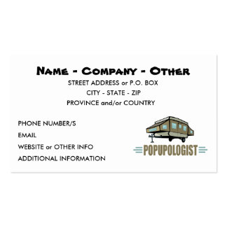 Funny Camping Pack Of Standard Business Cards