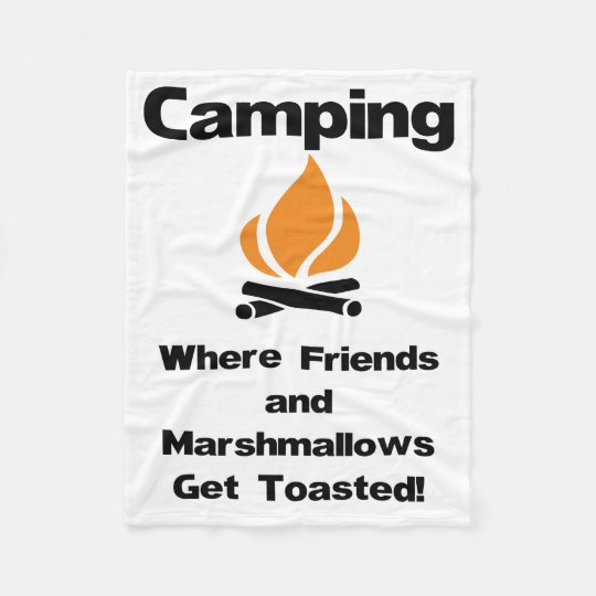 Funny Camping Saying with Marshmallows and Friends Fleece