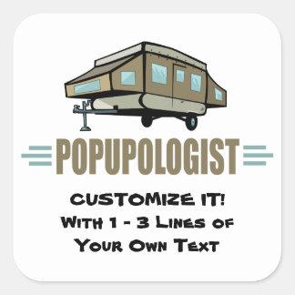 Funny Camping Square Sticker