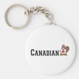 Funny Canadian Beaver Key Ring
