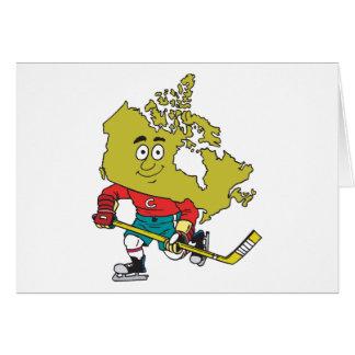 Funny Canadian Hockey Greeting Card