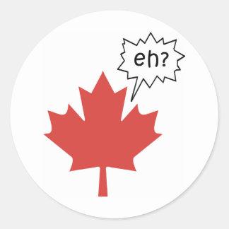 Funny Canadian Round Sticker