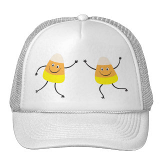 Funny candy corn cartoon characters hat