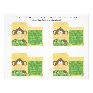 Funny Candy Packet Monkey Poop with Saying Flyer