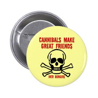 Funny cannibals 6 cm round badge