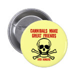 Funny cannibals pinback button