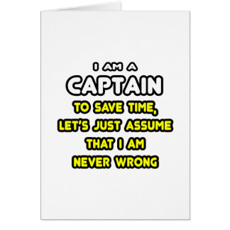 Funny Captain T-Shirts and Gifts Card