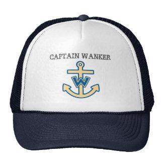 "Funny ""Captain Wanker"" Trucker Hats"