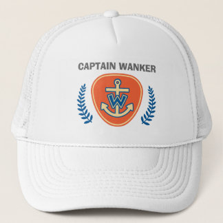 Funny Captain Wanker Trucker Hat