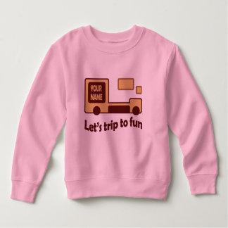 Funny car kid's pink tshirt
