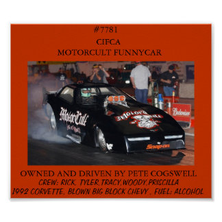 FUNNY CAR  POSTER