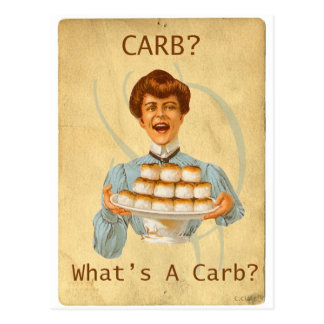 Funny Carb Diet Diabetic Notecard Postcard
