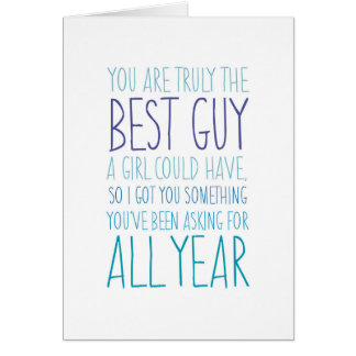Funny Card: Best Guy Birthday Greeting Card