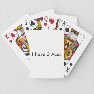 Funny card game poker deck