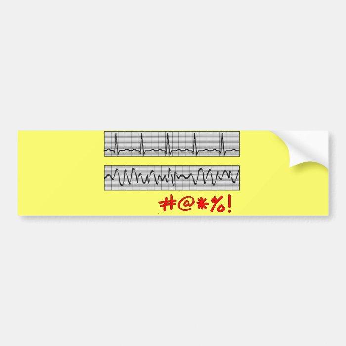 Funny Cardiac Rhythm Strip Gifts Bumper Sticker