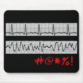 Funny Cardiac Rhythm Strip Gifts Mouse Mat