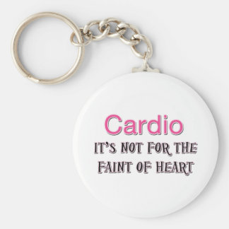 Funny Cardio Saying Basic Round Button Key Ring