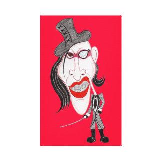 Funny Caricature Dark Gothic Metal 90's Canvas