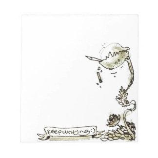 funny carnivorous plant cartoon notepad