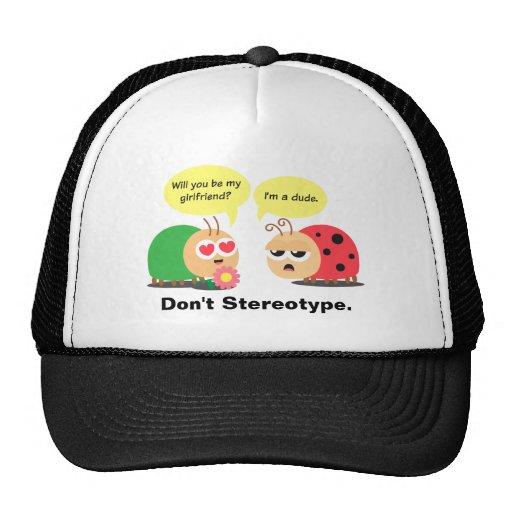 Funny Cartoon - Beetle Mistook Ladybug as a girl Mesh Hats
