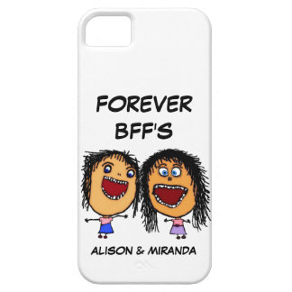 Funny Cartoon Best Friends BFF's Barely There iPhone 5 Case