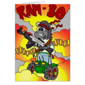 Funny Cartoon Birthday Card - Rambo Ram-bo