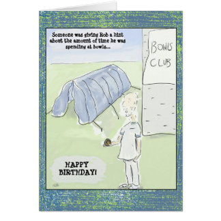 Funny Cartoon Bowls Birthday Card